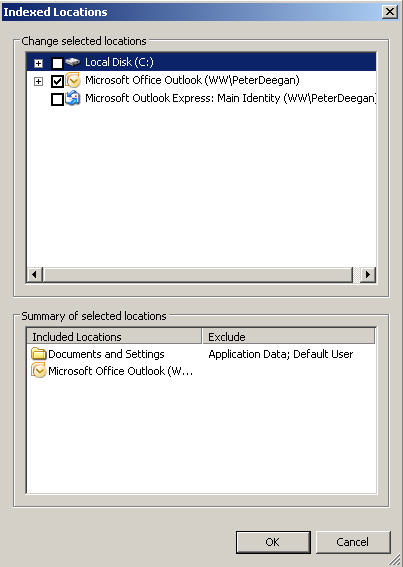 120 Windows Desktop Search modify locations  - The real Office 2007 installation guide, part 4
