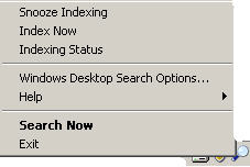 120 Windows Desktop Search system tray menu - The real Office 2007 installation guide, part 4