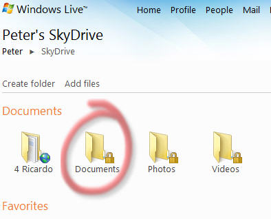 Office Web Applications - Skydrive main window.jpg image from Office Web Applications – half measures for now at Office-Watch.com