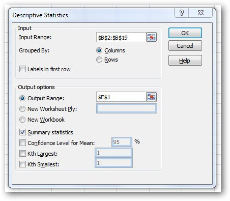 Analysis_Dialogue.jpg image from Quick and easy statistics in Excel at Office-Watch.com
