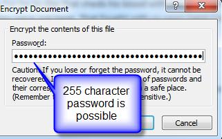 1394 Word 2007 password NOT limited to 15 characters - Word 2007 password bug