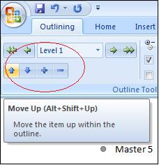Word - Promote and Demote levels for outlining and master documents image from Master Documents without pain at Office-Watch.com