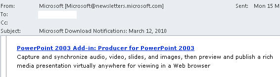 1400 Producer 2003 suggestion to download after security alert - Security updates - if it suits Microsoft
