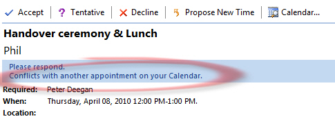 1402 Outlook 2007   show appointment with conflict - Outlook 2010 - calendar preview of appointments