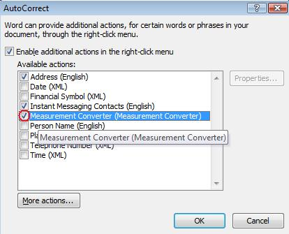 Autocorrect window.jpg image from Measurement Converter Smart Tag / Action at Office-Watch.com