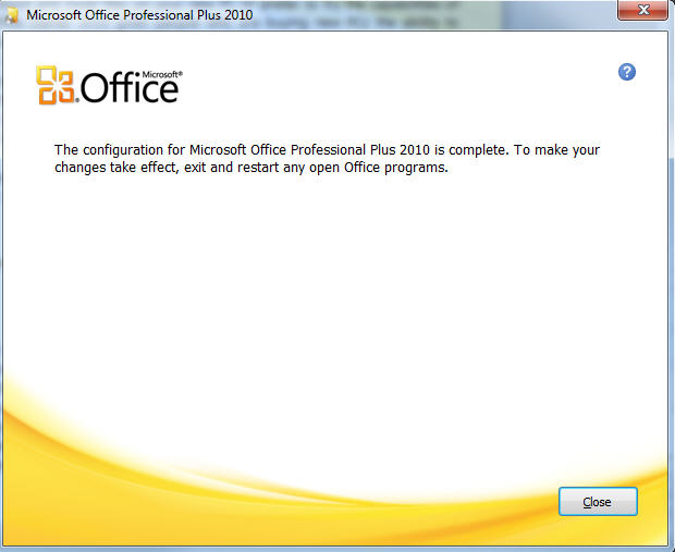 Office 2010 setup - setup completed.jpg image from Office 2010 – change the Product Key at Office-Watch.com