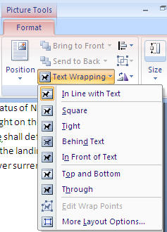 Word 2007 - Picture - Text Wrapping options.jpg image from Editing pictures inside Office at Office-Watch.com