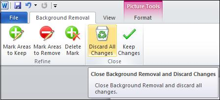 Discard changes.jpg image from Background Removal Tool in Office 2010 at Office-Watch.com