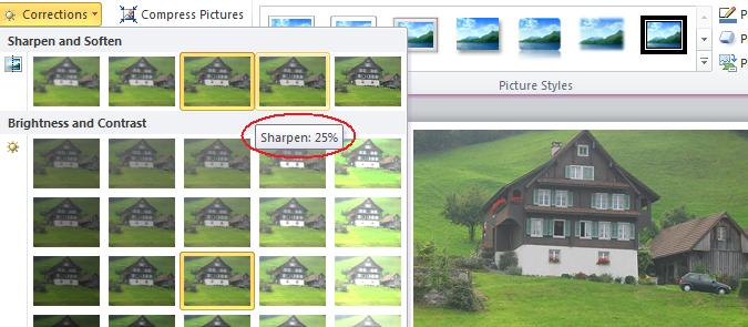 Sharpen image.jpg image from Image Correction in Office 2010 at Office-Watch.com