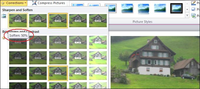 Soften image.jpg image from Image Correction in Office 2010 at Office-Watch.com