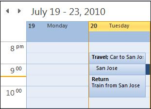 Calendar.jpg image from Travel time add-in for Outlook at Office-Watch.com