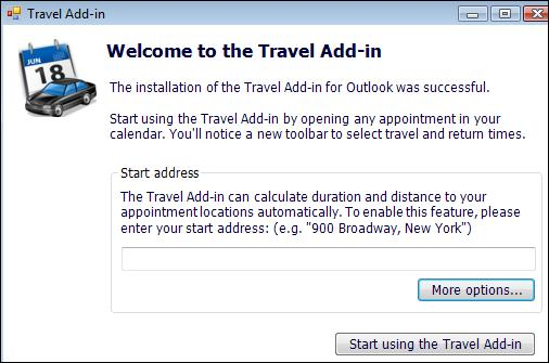 Travel add-in usage.jpg image from Travel time add-in for Outlook at Office-Watch.com