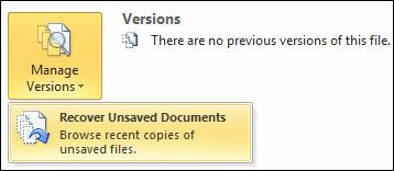 Restore unsaved file.jpg image from Versions in Word 2010 at Office-Watch.com