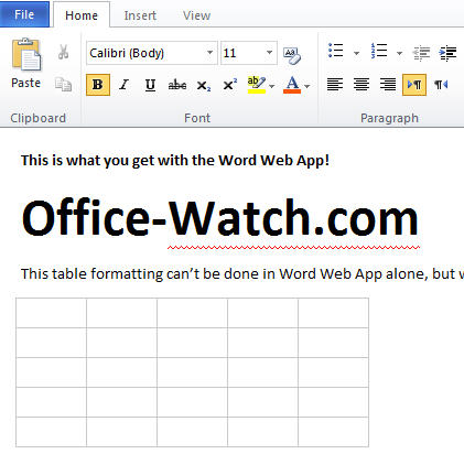 1493 OWA Editing view of same document - Office Web Apps - dive in and try 'em