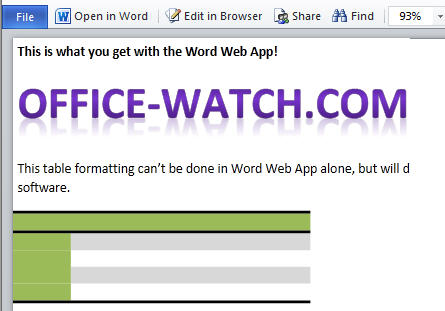 1493 OWA reading view - Office Web Apps - dive in and try 'em