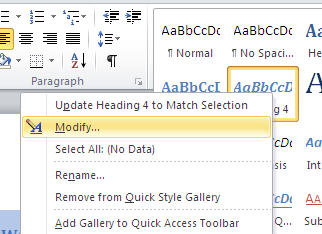 Word - Modify Style.jpg image from Shortcuts for Word heading styles at Office-Watch.com