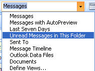 Outlook - simple View listing.jpg image from Outlook 2010 view unread messages. at Office-Watch.com