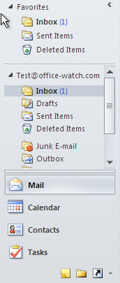 1566 Outlook Navigation Pane default - Navigation Buttons: Outlook settings NOT to use