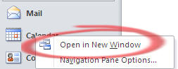 Outlook - Open in New Window from Navigation Pane.jpg image from Outlook – see more with New Window at Office-Watch.com