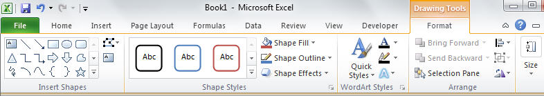 1590 Excel Text Box formatting ribbon - Text Box in Excel, PowerPoint and Word