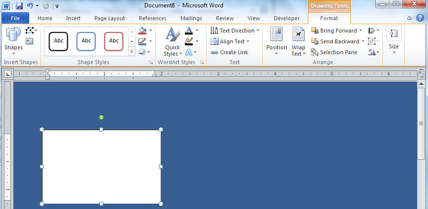 Word - Text Box default with drawing tools.jpg image from Changing Text Box backgrounds at Office-Watch.com