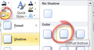Word - Text Box - shadow effect.jpg image from Chalkboard effect in Word at Office-Watch.com
