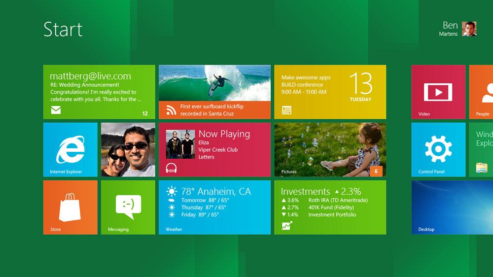 1610 Windows 8 screenshot startScreen web - Windows 8 and Microsoft Office