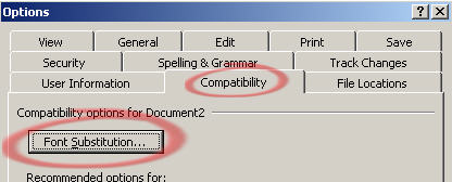 Word 2003 - Font subsitution button.jpg image from Font Embedding in Microsoft Office at Office-Watch.com