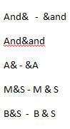 1617 Word Ampersand test - Word's Symbol Spelling bug