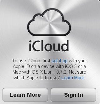 1618 icloud initial web prompt - iCloud and Microsoft Office