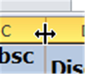 Excel - adjust column mouse pointer.jpg image from Getting data from Internet into Excel at Office-Watch.com