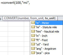 Excel - Convert autocomplete for length.jpg image from Excel