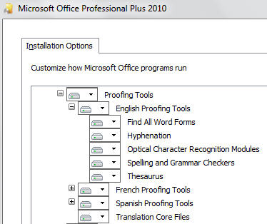 Office 2010 - English release language options.jpg image from Adding a language to Microsoft Office at Office-Watch.com