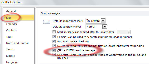 1644 Outlook   change Ctrl and Enter setting - Ctrl + Enter shortcut in Outlook