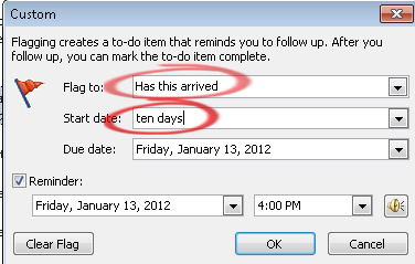 1645 Outlook has this arrived custom flag - Outlook reminders for ebay and other online purchases