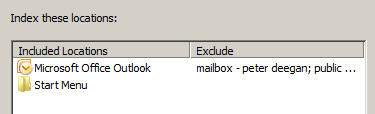 Vista - indexing with mailboxes disabled image from Vista, Outlook and indexing at Office-Watch.com