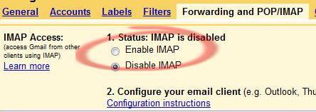560 Gmail IMAP setting - Gmail is even better with IMAP