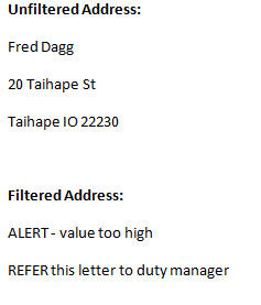 Word mail merge - Address block IF statement - preview text image from How to avoid trillion dollar mistakes in Word at Office-Watch.com