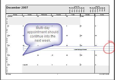 568 Word 2007 Multi week calendar print error, pre SP1 - Calendar printing problem fixed with Office 2007 Service Pack