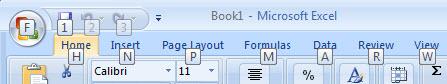 662 Excel 2007 Alt key shortcut reminders - Office 2007 - new look - same shortcuts