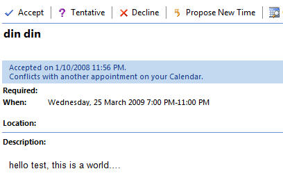 Outlook - appointment options received via email image from Sharing Outlook appointments - the right way at Office-Watch.com
