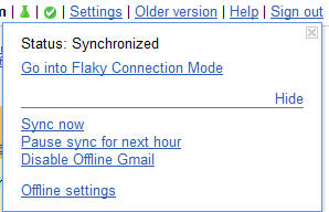Gmail - offline icon and options.jpg image from Gmail goes offline at Office-Watch.com