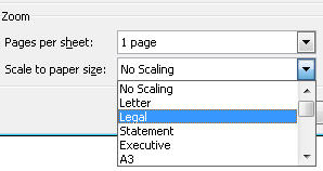 796 Word Scale to paper size - Fitting a Word or Excel doc to your printer
