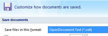 Office 2007 SP2 - OpenDocument as default format.jpg image from Office Service Pack leaked at Office-Watch.com