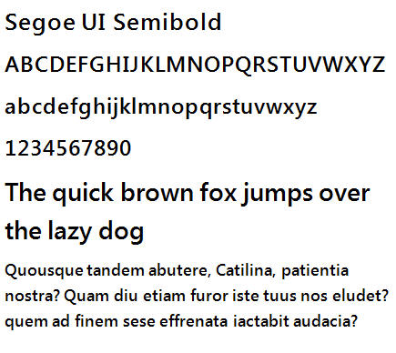 Segoe UI SemiBold - sample.jpg image from 21 new typefaces in Windows 7 at Office-Watch.com