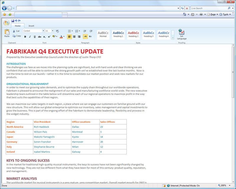894 Word web application editing - Office 2010 - web apps preview