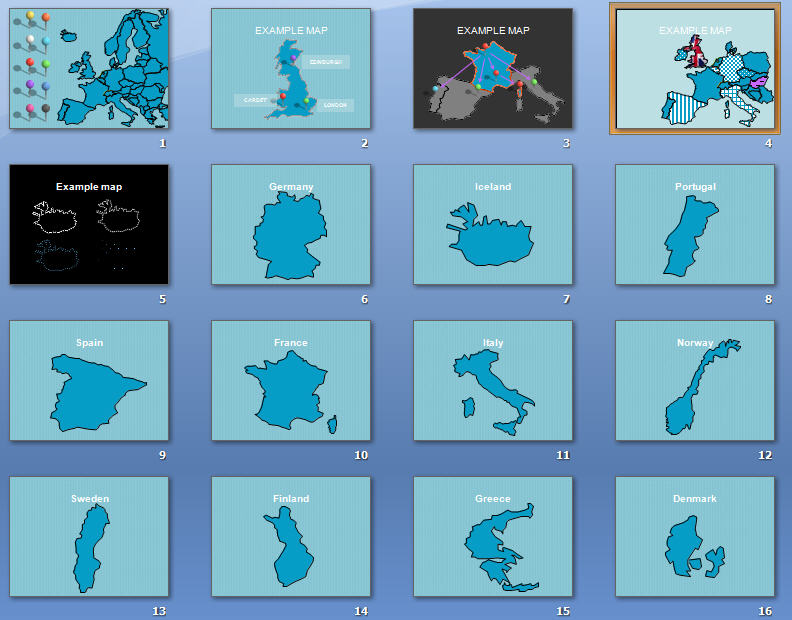 900 PowerPoint   Maps of Europe - Maps of Europe for PowerPoint