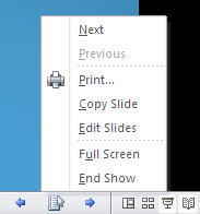 PowerPoint 2010 TP - Reading View menu detail.jpg image from PowerPoint 2010 - first look at Office-Watch.com
