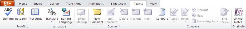 PowerPoint 2010 TP - Review tab.jpg image from PowerPoint 2010 - first look at Office-Watch.com