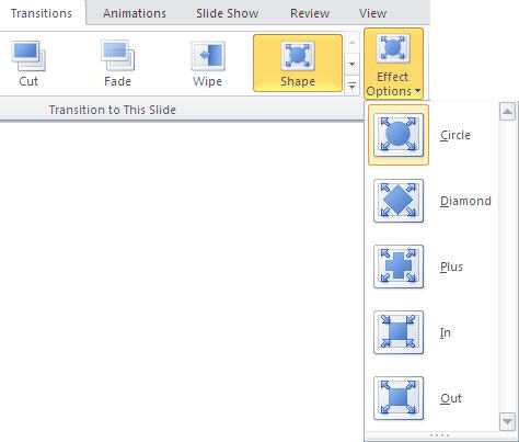 PowerPoint 2010 TP - Transitions tab - Effect Options example.jpg image from PowerPoint 2010 - first look at Office-Watch.com